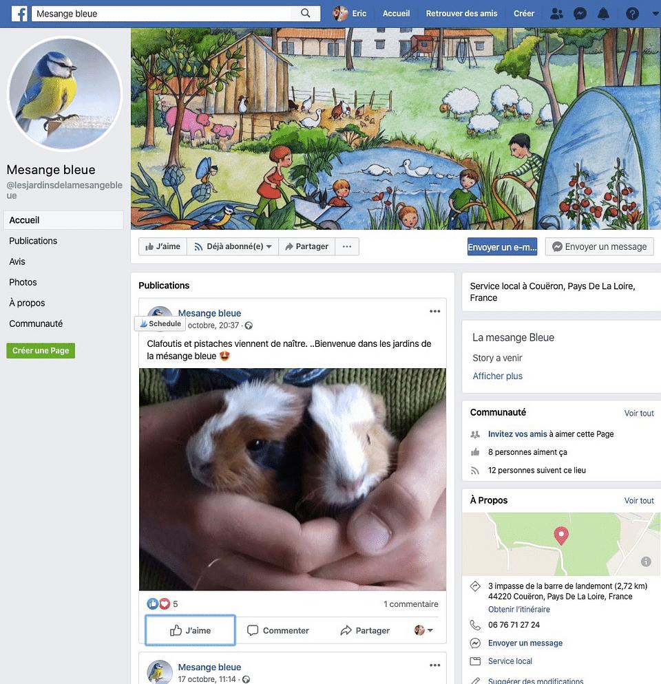 Création site web :Les jardins de la mésange bleue