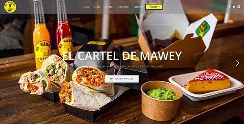 Cadena de restaurantes Cartel de Mawey - Creación de Sitios Web