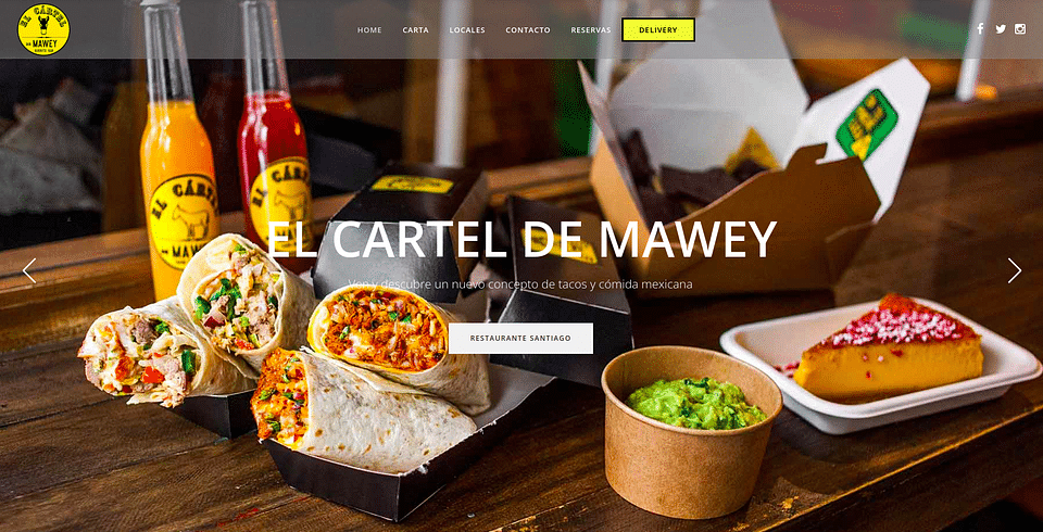 Cadena de restaurantes Cartel de Mawey