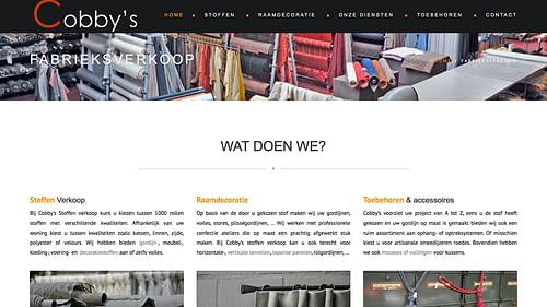 Website voor Outlet Stoffen/gordijnen - Website Creatie