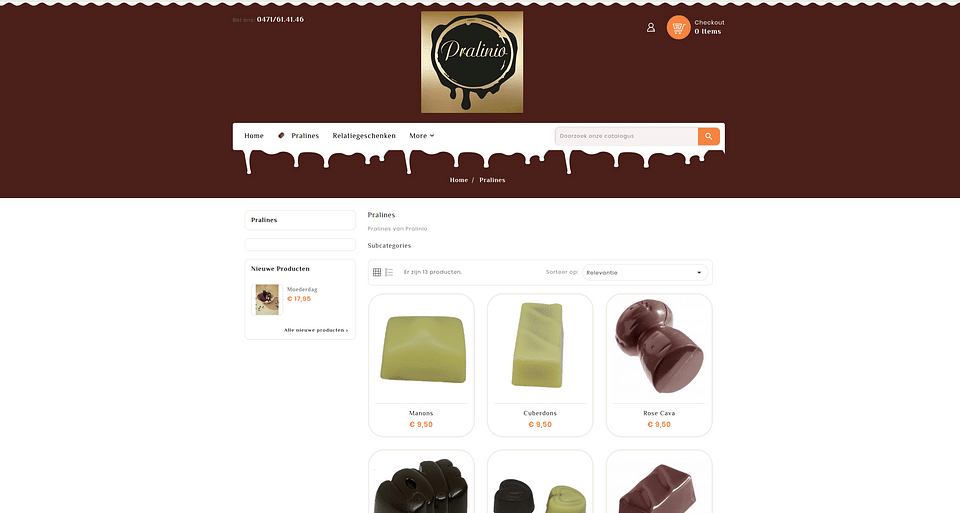 E-commerce toepassing Parlinio