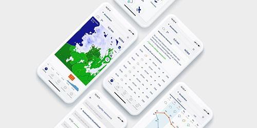 UX & UI design van 's lands populairste weerapp - Website Creatie