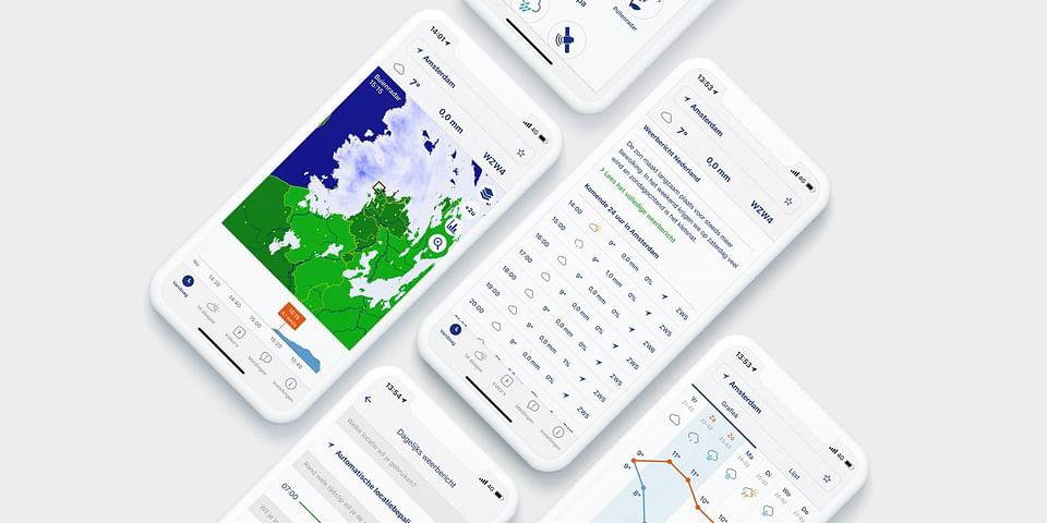 UX & UI design van 's lands populairste weerapp