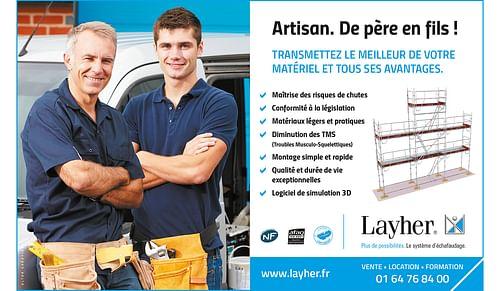 Conception de campagnes d'annonces presse Layher - Publicité