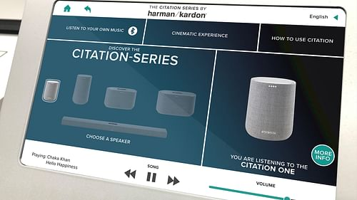 Instore display, design & UX/UI - Harman Kardon - Digital Strategy