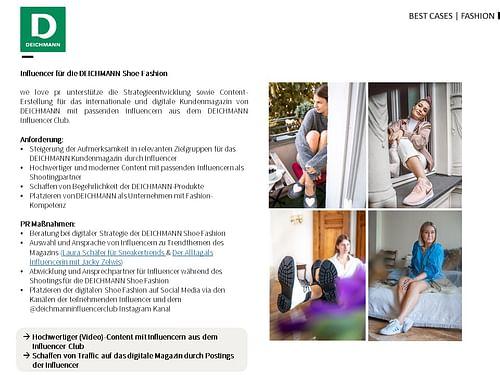 Influencer for Deichmann Shoe Fashion - Öffentlichkeitsarbeit (PR)