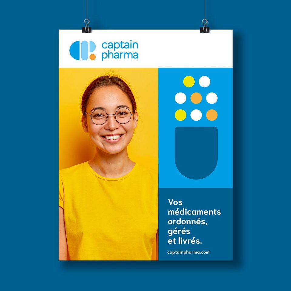 Création de l'identité visuelle de Captain Pharma