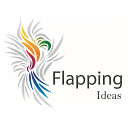Flapping logo