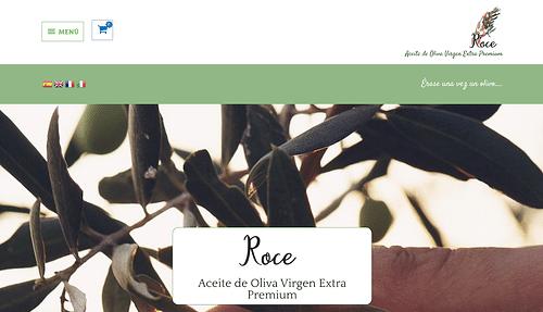 Tienda Online ROCE Oliva Virgen Extra Premium - Creación de Sitios Web