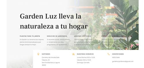 Diseño web para Vivero Garden Luz - Creación de Sitios Web