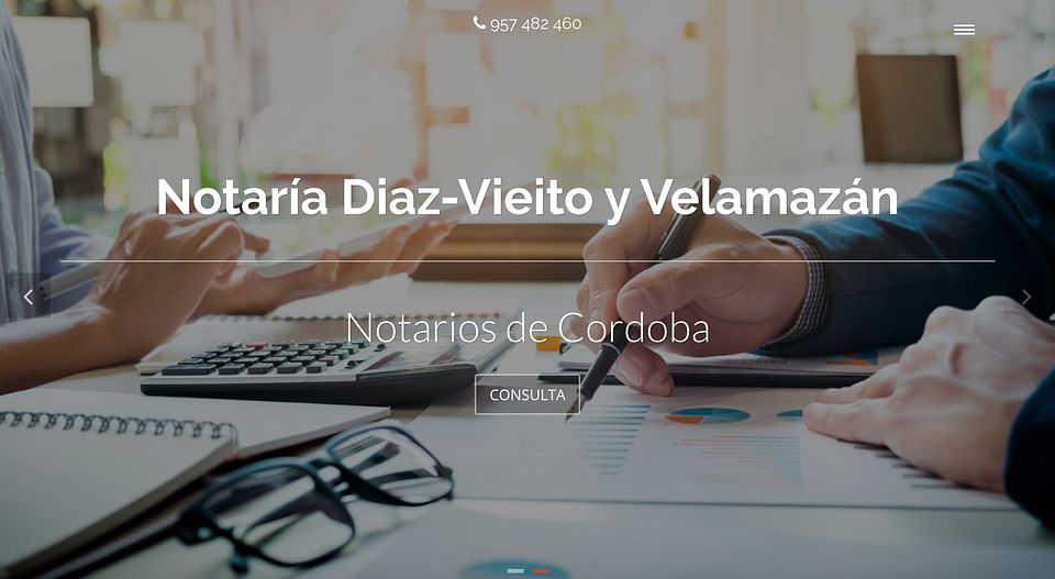 Notaría: Diseño web corporativa