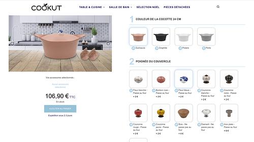 Création d'un configurateur de produits - E-commerce