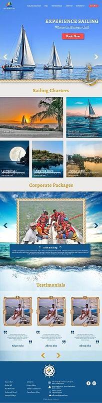 Website Design for Clube Nautilus de Goa - Graphic Design