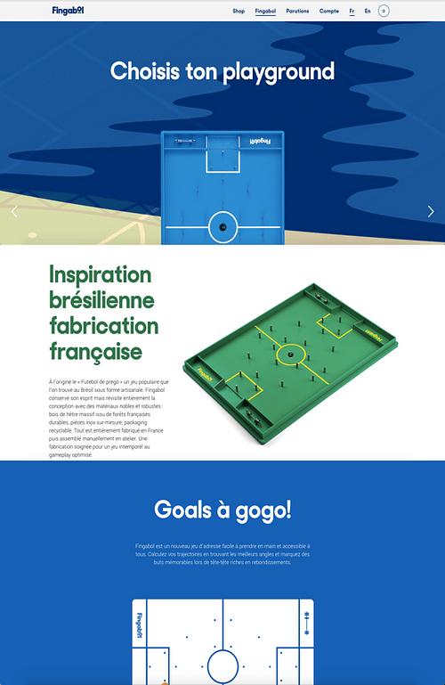 Finbagol - ecommerce - Création de site internet