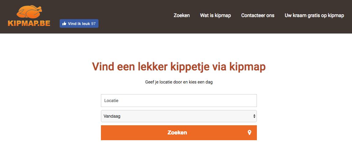 kipmap website - Website Creatie