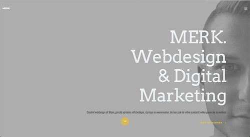 Websiteontwerp en brand awareness campagne MERK. - Website Creatie