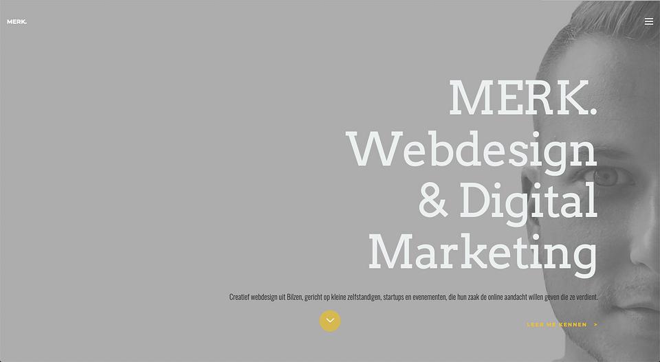 Websiteontwerp en brand awareness campagne MERK.