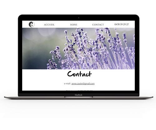 Anne Cavier Website - Creación de Sitios Web
