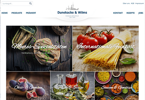 Relaunch Website + Shop Dunekacke & Wilms
