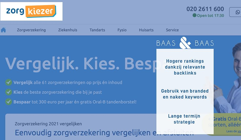 Zorgkiezer.nl SEO optimalisatie