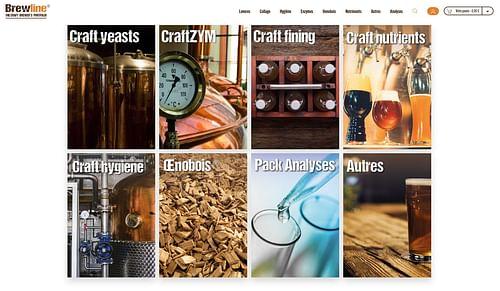 Brewline - Boutique en ligne pour micro-brasseries - Création de site internet