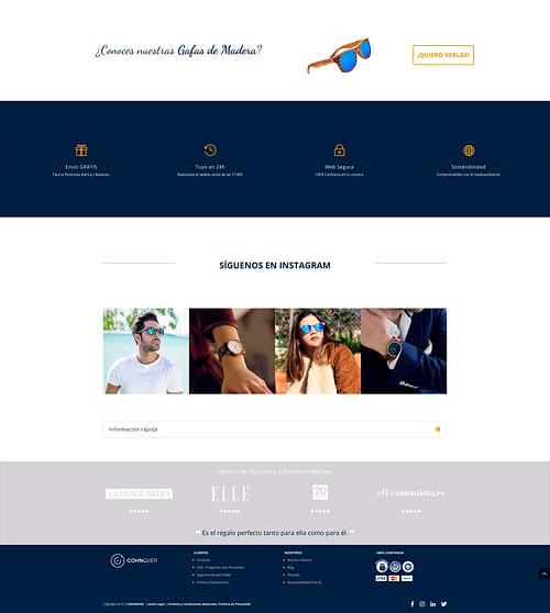 Branding y Diseño web Marca Complementos - E-commerce