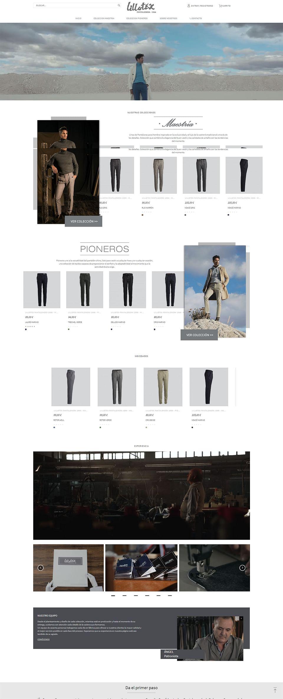 Diseño y Creación e-commerce para textil