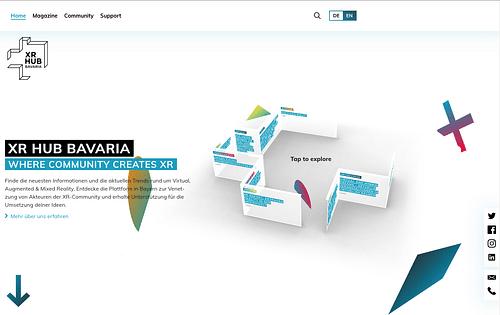 XR Hub Bavaria: Informationsplattform für XR-Szene - Webseitengestaltung