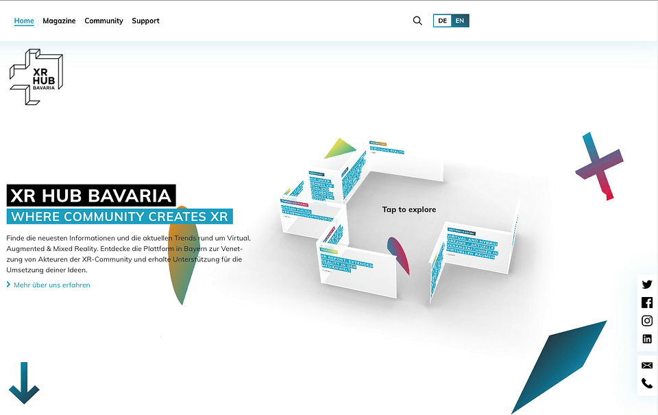 XR Hub Bavaria: Informationsplattform für XR-Szene