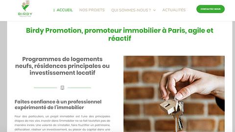 Refonte de site Promotion immobilière