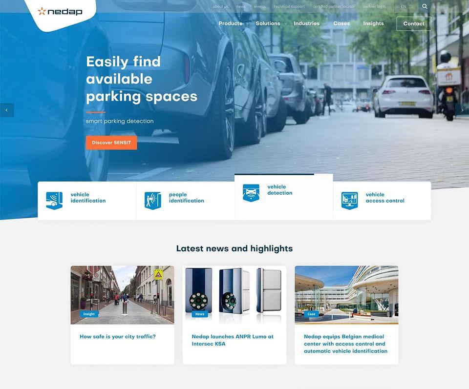 Realisatie website Nedap Identification Systems