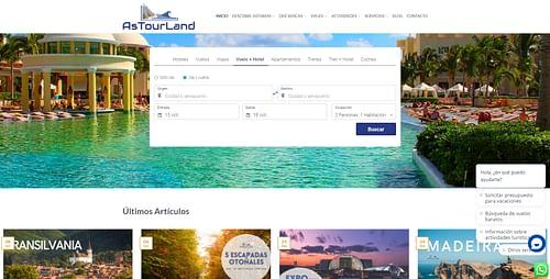Pagina Web AsTourLand - Estrategia digital