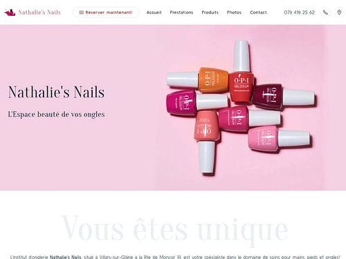 Nathalie's Nails Institut d'Onglerie - Création de site internet
